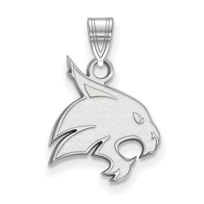 Picture of Texas State University Bobcats Sterling Silver Medium Pendant