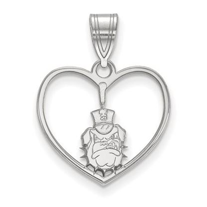 Picture of The Citadel Bulldogs Sterling Silver Heart Pendant