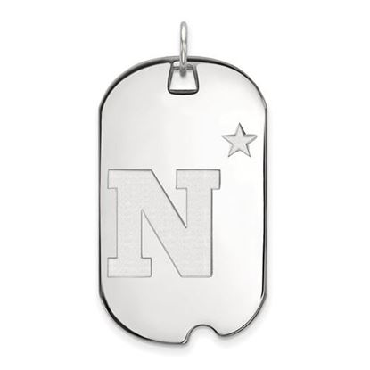 Picture of U.S. Naval Academy Midshipmen Sterling Silver Large Dog Tag
