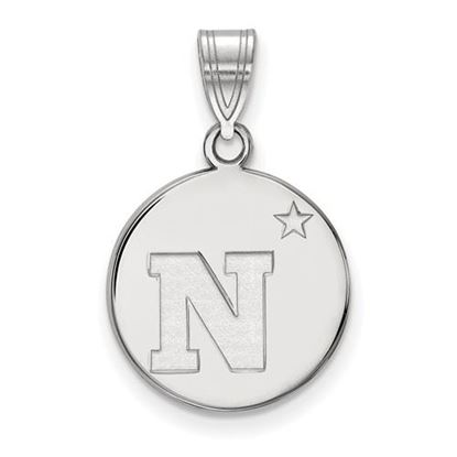 Picture of U.S. Naval Academy Midshipmen Sterling Silver Medium Disc Pendant
