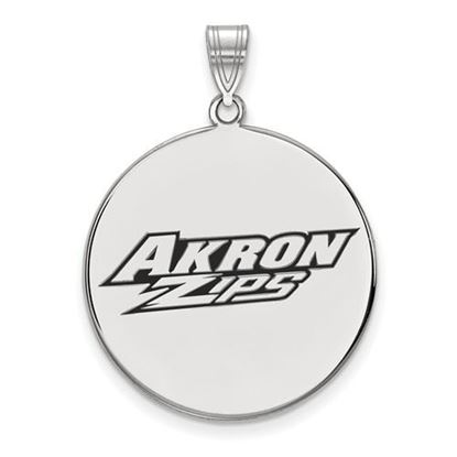 Picture of University of Akron Zips Sterling Silver Extra Large Enameled Disc Pendant