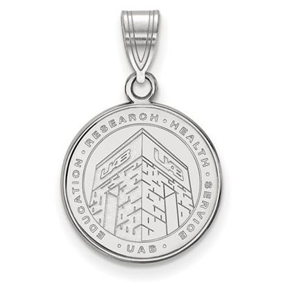 Picture of University of Alabama at Birmingham Blazers Sterling Silver Medium Crest Pendant