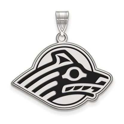 Picture of University of Alaska Seawolves Sterling Silver Large Enameled Pendant