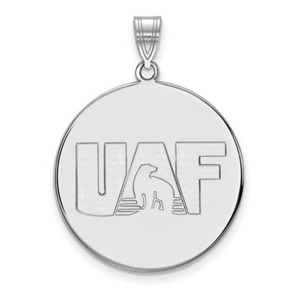 Picture of University of Alaska Fairbanks Nanooks Sterling Silver Extra Large Disc Pendant