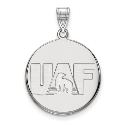 Picture of University of Alaska Fairbanks Nanooks Sterling Silver Large Disc Pendant
