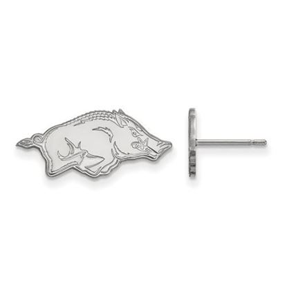 Picture of University of Arkansas Razorbacks Sterling Silver Extra Small Post Earrings