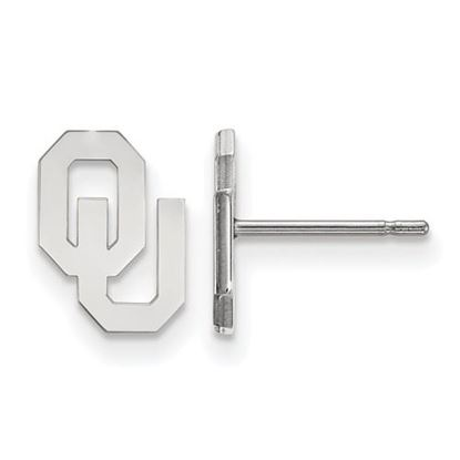 Picture of University of Oklahoma Sooners Sterling Silver Extra Small Post Earrings