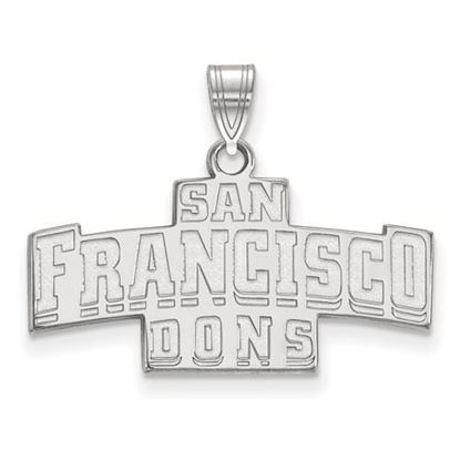 Picture of University of San Francisco Dons Sterling Silver Small Pendant