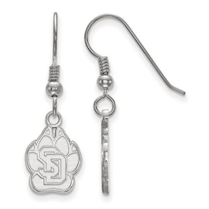 Picture of University of South Dakota Coyotes Sterling Silver Small Dangle Earrings