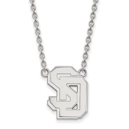Picture of University of South Dakota Coyotes Sterling Silver Large Necklace