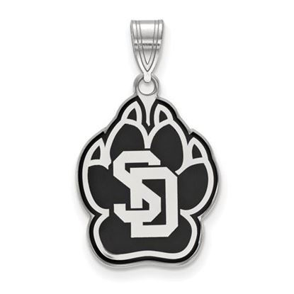 Picture of University of South Dakota Coyotes Sterling Silver Large Enameled Pendant