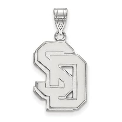 Picture of University of South Dakota Coyotes Sterling Silver Large Pendant