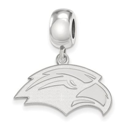 Picture of University of Southern Mississippi Golden Eagles Sterling Silver Small Dangle Bead
