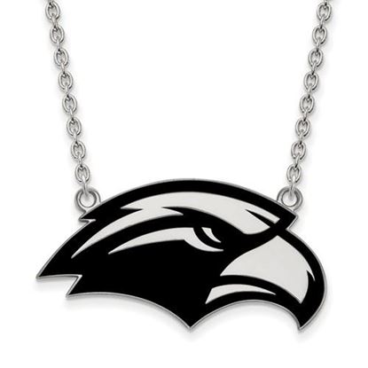 Picture of University of Southern Mississippi Golden Eagles Sterling Silver Large Enameled Necklace