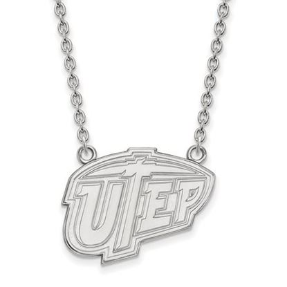 Picture of University of Texas at El Paso Miners Sterling Silver Large Necklace
