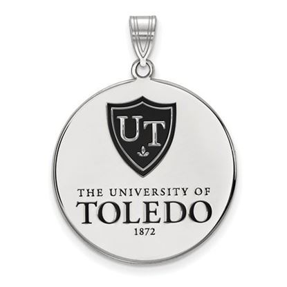 Picture of University of Toledo Rockets Sterling Silver Extra Large Enameled Disc Pendant