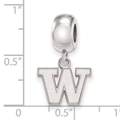 Picture of University of Washington Huskies Sterling Silver Extra Small Bead Charm