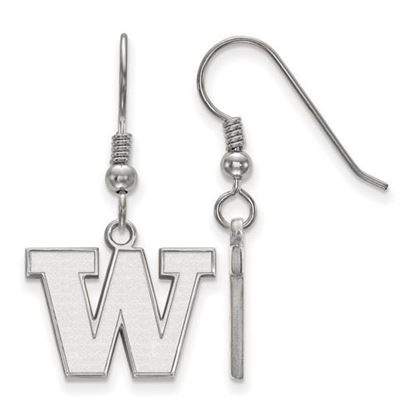 Picture of University of Washington Huskies Sterling Silver Small Dangle Earrings