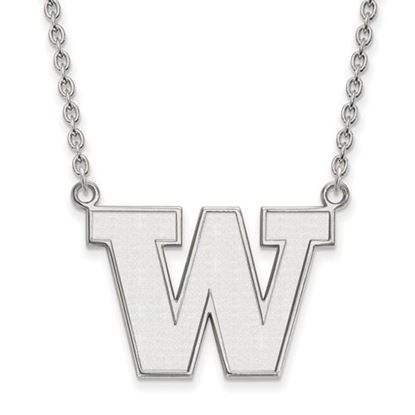 Picture of University of Washington Huskies Sterling Silver Large Necklace
