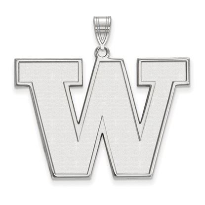 Picture of University of Washington Huskies Sterling Silver Extra Large Pendant