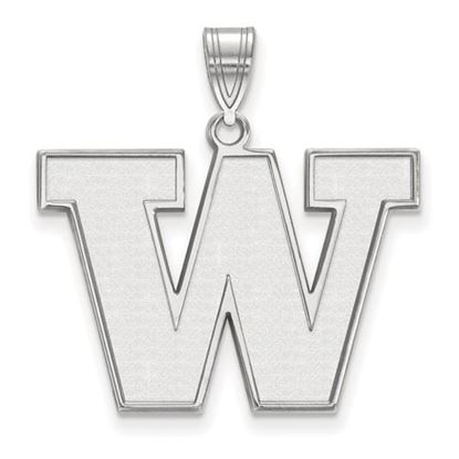 Picture of University of Washington Huskies Sterling Silver Large Pendant