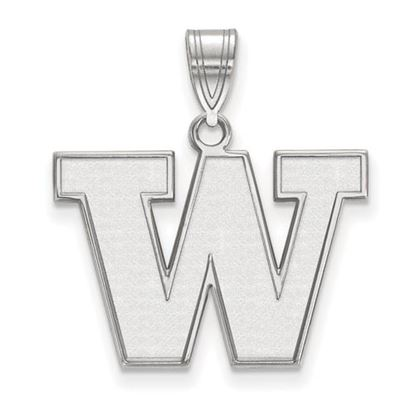 Picture of University of Washington Huskies Sterling Silver Medium Pendant