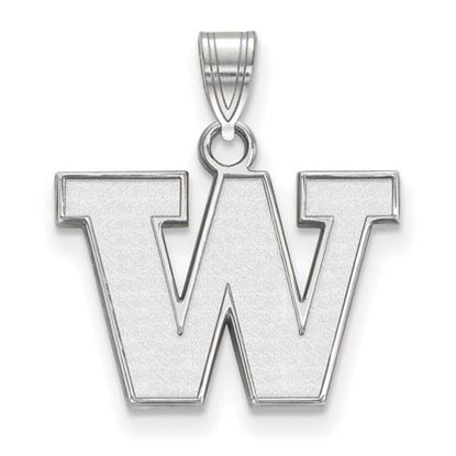 Picture of University of Washington Huskies Sterling Silver Small Pendant