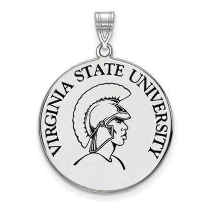Picture of Virginia State University Trojans Sterling Silver Extra Large Enameled Disc Pendant