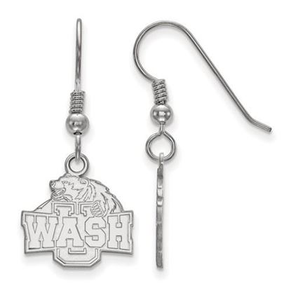 Picture of Washington University St. Louis Bears Bears Sterling Silver Small Dangle Earrings