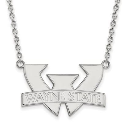 Picture of Wayne State University Warriors Sterling Silver Large Necklace