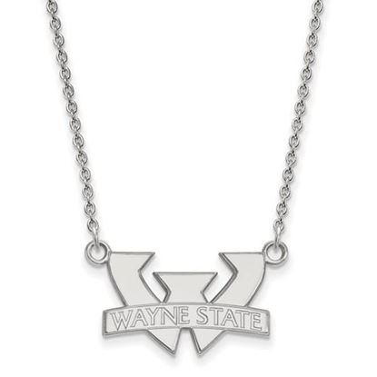 Picture of Wayne State University Warriors Sterling Silver Small Necklace