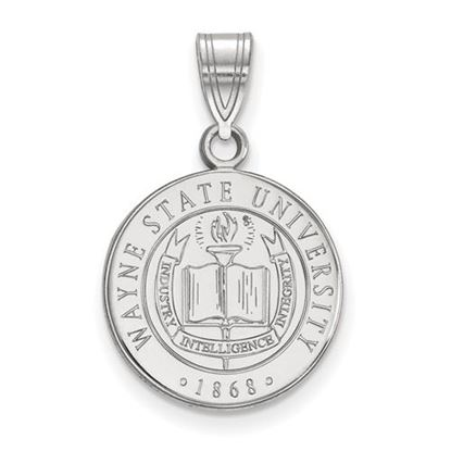 Picture of Wayne State University Warriors Sterling Silver Medium Crest Pendant