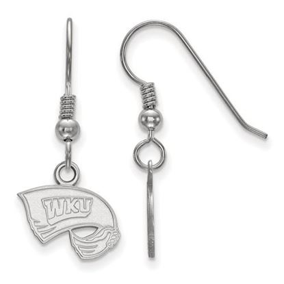 Picture of Western Kentucky University Hilltoppers Sterling Silver Extra Small Dangle Earrings