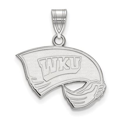 Picture of Western Kentucky University Hilltoppers Sterling Silver Medium Pendant