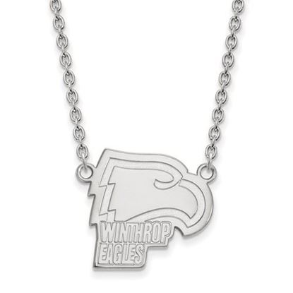 Picture of Winthrop University Eagles Sterling Silver Large Necklace
