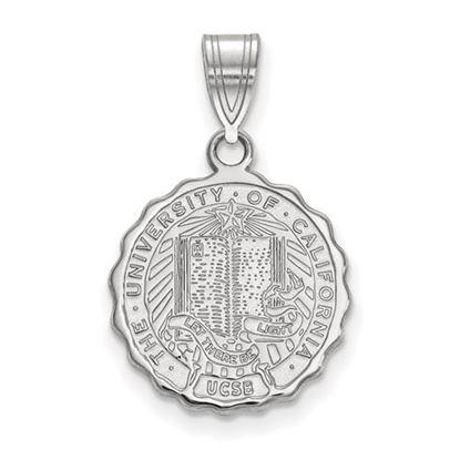 Picture of University of California Santa Barbara Gauchos Sterling Silver Medium Crest Pendant