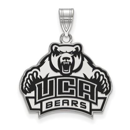 Picture of University of Central Arkansas Bears Sterling Silver Large Enameled Pendant