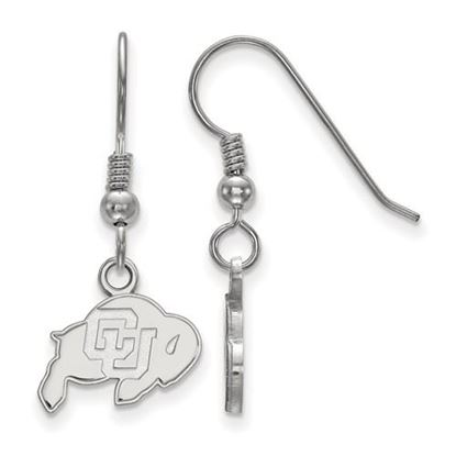 Picture of University of Colorado Buffaloes Sterling Silver Extra Small Dangle Earrings