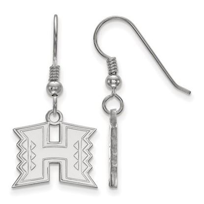Picture of University of Hawaii Rainbow Warriors Sterling Silver Small Dangle Earrings