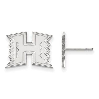 Picture of University of Hawaii Rainbow Warriors Sterling Silver Small Post Earrings