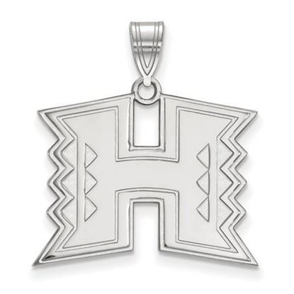 Picture of University of Hawaii Rainbow Warriors Sterling Silver Large Pendant