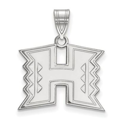 Picture of University of Hawaii Rainbow Warriors Sterling Silver Medium Pendant