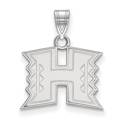 Picture of University of Hawaii Rainbow Warriors Sterling Silver Small Pendant