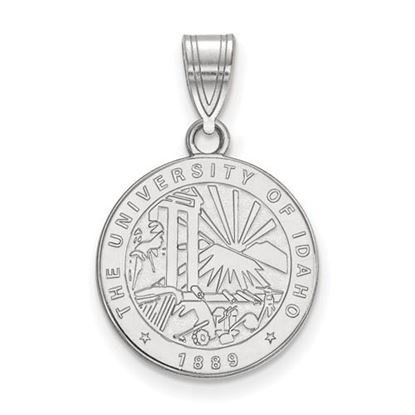 Picture of University of Idaho Vandals Sterling Silver Medium Crest Pendant