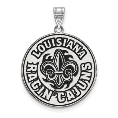 Picture of University of Louisiana at Lafayette Ragin' Cajuns Sterling Silver Extra Large Enameled Pendant