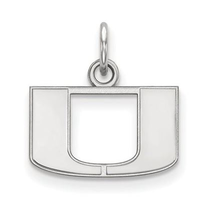 Picture of University of Miami Hurricanes Sterling Silver Extra Small Pendant