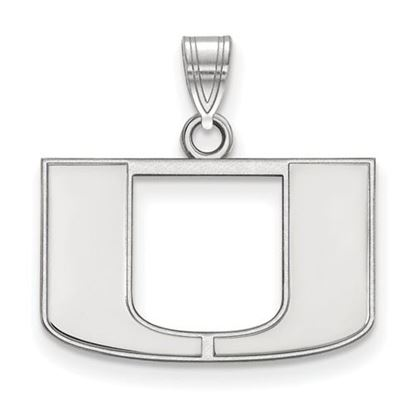 Picture of University of Miami Hurricanes Sterling Silver Small Pendant
