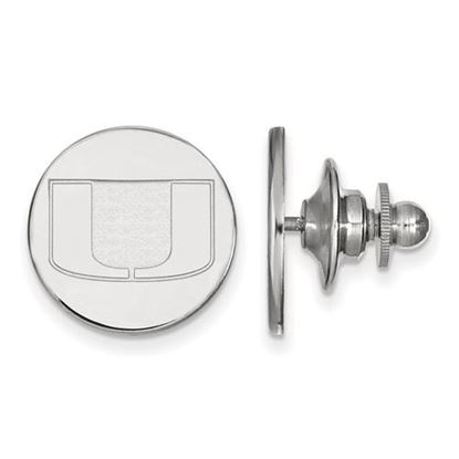 Picture of University of Miami Hurricanes Sterling Silver Lapel Pin