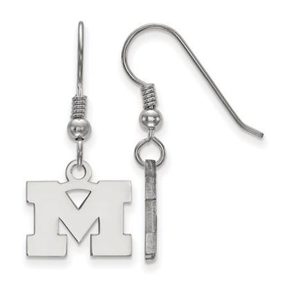 Picture of University of Michigan Wolverines Sterling Silver Extra Small Dangle Earrings