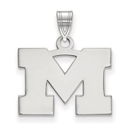 Picture of University of Michigan Wolverines Sterling Silver Small Pendant